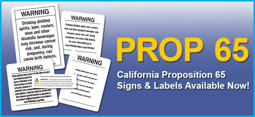 California Prop 65 Signs at Safetycal
