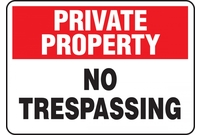 Admittance & Trespassing Signs