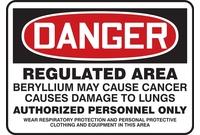 Beryllium Hazard Signs