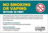 Oregon Smoking Signs