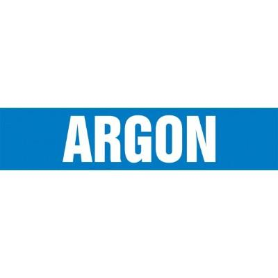 Argon - Cling-Tite Pipe Marker (White/Blue)