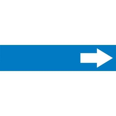 Arrow (Blue Background) - Cling-Tite Pipe Marker