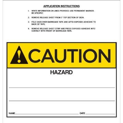 Caution - Hazard ANSI Barricade Sign