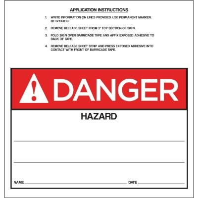 Danger - Hazard ANSI Barricade Sign