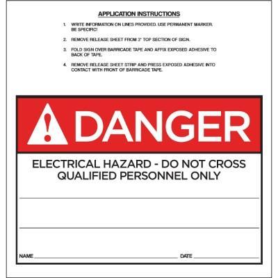 Danger - Electrical Hazard ANSI Barricade Sign