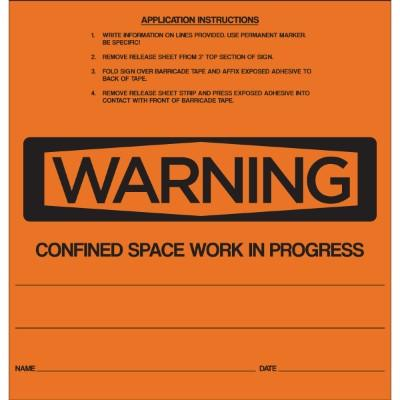 Warning - Confined Space OSHA Barricade Sign