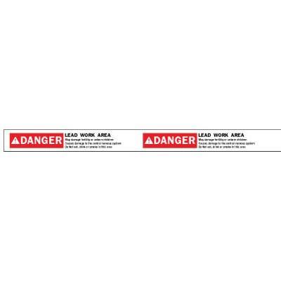 Danger - Lead Work Area ANSI Barricade Tape
