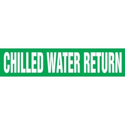 Chilled Water Return - Cling-Tite Pipe Marker