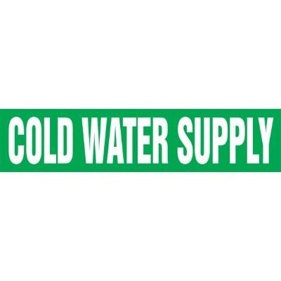 Cold Water Supply - Cling-Tite Pipe Marker