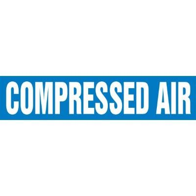 Compressed Air - Cling-Tite Pipe Marker (White/Blue)