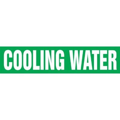 Cooling Water - Cling-Tite Pipe Marker