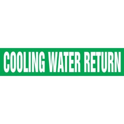 Cooling Water Return - Cling-Tite Pipe Marker