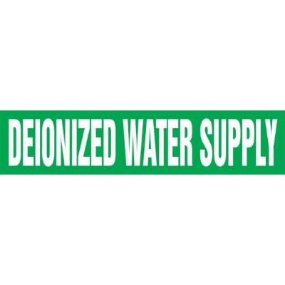Deionized Water Supply - Cling-Tite Pipe Marker