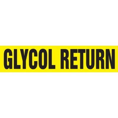 Glycol Return - Cling-Tite Pipe Marker