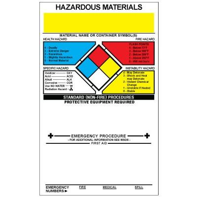 NFPA Style A Labels