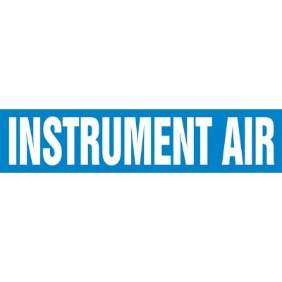 Instrument Air - Cling-Tite Pipe Marker (White/Blue)