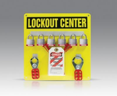 6 Padlock Lockout Hanger Board
