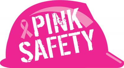 Pink Safety Hard Hat Sticker