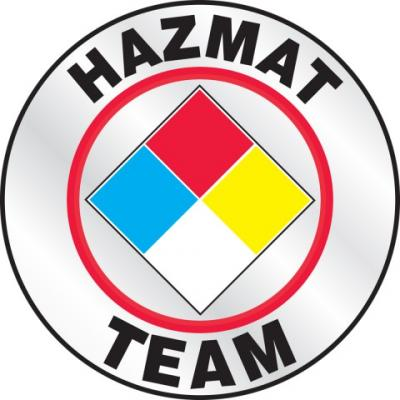 Hazmat Team Reflective Hard Hat Sticker