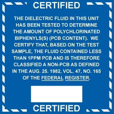 Certified - The Dielectric Fluid (Vol. 47) PCB Label