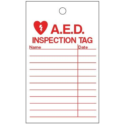 AED Inspection Tag