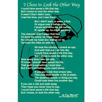 """Poem - """"I Chose to Look the Other Way"""""""