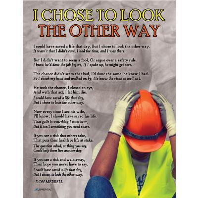 """Poem - """"I Chose to Look the Other Way"""" (New Art)"""