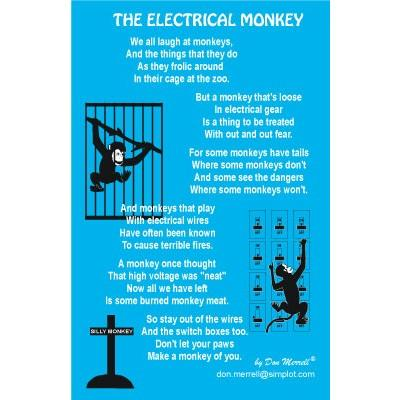 "Poem - ""Electrical Monkey"""