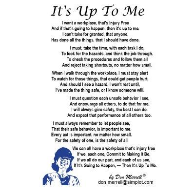 "Poem - ""It's Up to Me"""