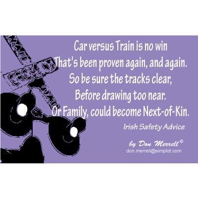 """Limerick - """"Car Versus Train"""""""