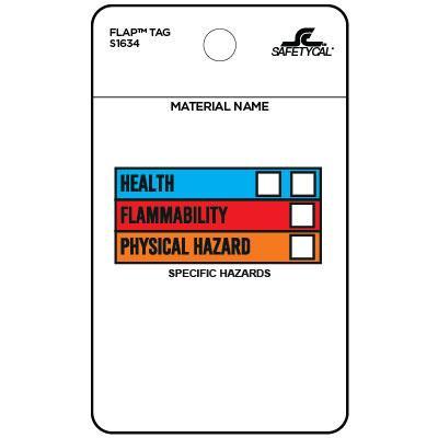 Hazardous Material Flap Tag (HazCom III)