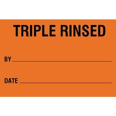 Triple Rinsed HazCom Label