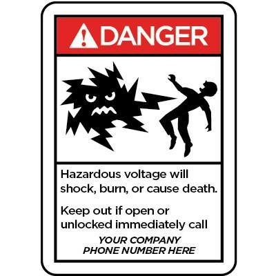 Danger Hazardous Voltage Will Shock Burn Or Cause