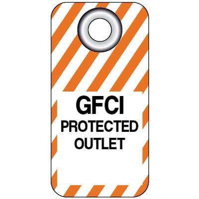 GFCI Protected Outlet Lockout Tag