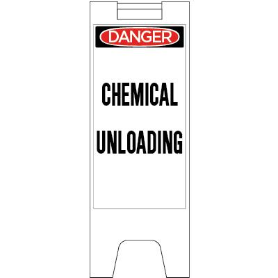 Danger - Chemical Unloading OSHA Folding Barricade Sign
