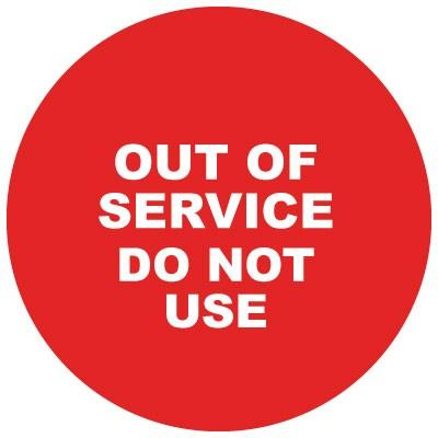 Out of Service - Do Not Use Steering Wheel Cover