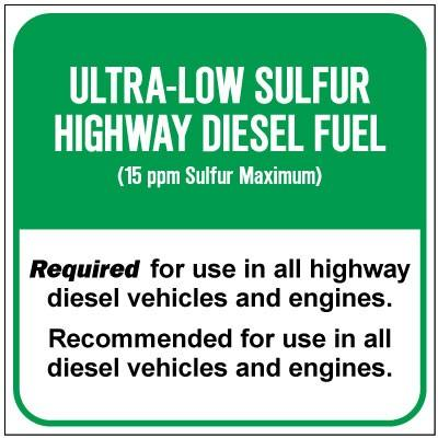 Ultra-Low Sulfur Highway Diesel Fuel (15ppm) Chemical Label