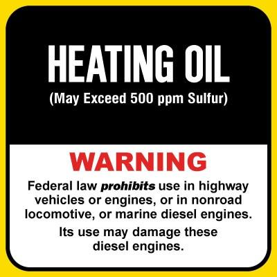 Heating Oil - Warning Chemical Label