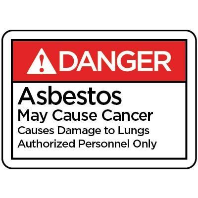 Danger - Asbestos May Cause Cancer ANSI HazMat Sign