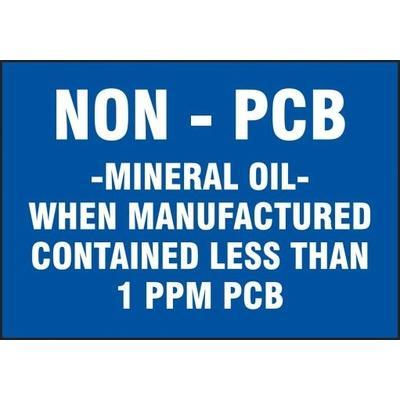 Non-PCB Mineral Oil - PCB Label