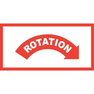 Rotation Right Equipment Label