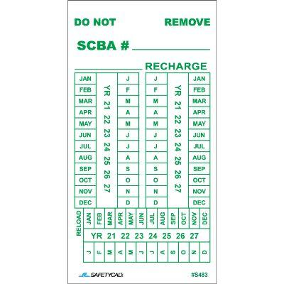 SCBA Inspection Tag
