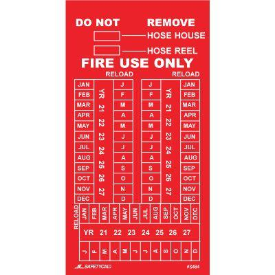 Fire Use Only Inspection Tag