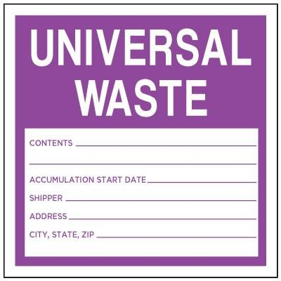 Universal Waste Label (Fill-in)