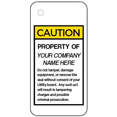 Caution - Property Of OSHA Anti-Tamper Meter Tag