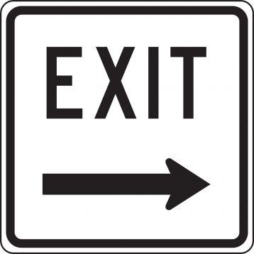 Exit (Arrow Right) - Facility Traffic Sign