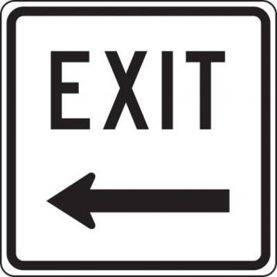 Exit (Arrow Left) - Facility Traffic Sign