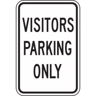Visitors Parking Only Parking Sign