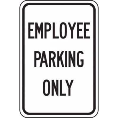 Employee Parking Only - Parking Sign