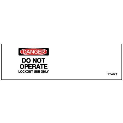 Danger - Do Not Operate, Lockout Use Only OSHA Lockwrap